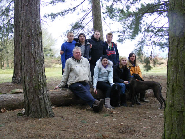 Steve McCarron with friends and family in the Worcestershire Commons Association