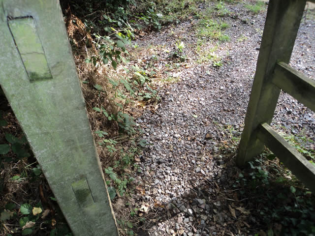 also the gateway at the far end of the footpath Elinor cannot get through in her wheelchair!