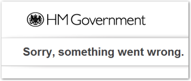 A previous error message on a Government website, but even having something as simple as this seems to be beyond HS2 Ltd