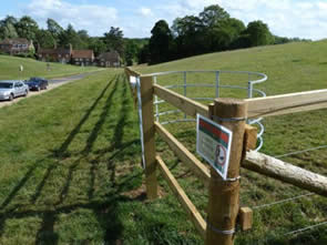 Chorleywood Parish Council. Threat to fence Larks Meadow