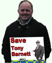 TONY BARNETT ARRESTED ON RIGHTS OF WAY CHARGE