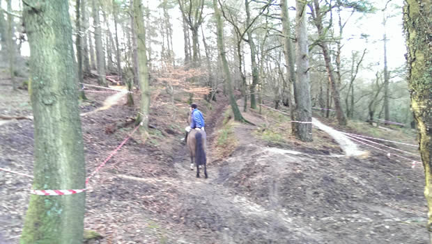 New Mountain Bike track causing concern on Leith Hill
