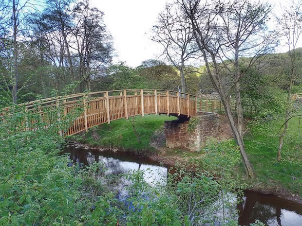 New Bridge over the Murk Esk opens up North York Moors