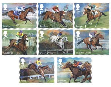 Racehorse Legends Special Stamps Limited edition souvenirs and gifts