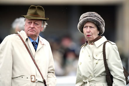 Couple enjoying first day of racing at Cheltenham